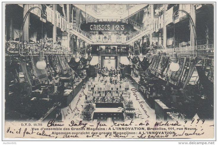 "Carte postale du grand magasin ""A l'innovation"", concu par V. Horta, Bruxelles"